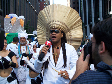 The guest of honor, Carlinhos Brown (a musician from Bahia)
