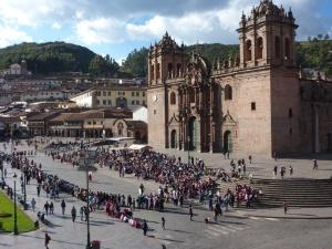 La Catedral from Iglesia de la Compania de Jesus